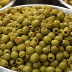 Pickled olives stuffed with...